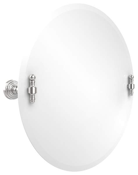 Tilting Bathroom Mirror Chrome by 22 Quot Tilt Mirror Polished Chrome Transitional