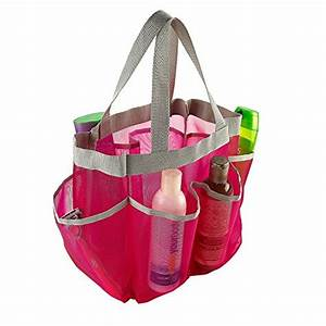 7 Pocket Shower Caddy Tote, Pink - Keep your shower ...