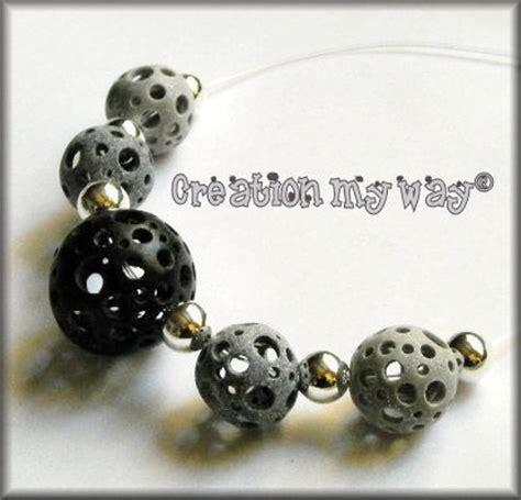 collier de perles holes en fimo creation