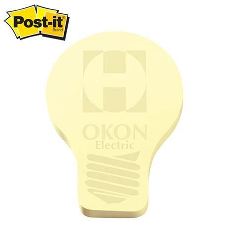 promotional post it shape light bulb shape large sticky