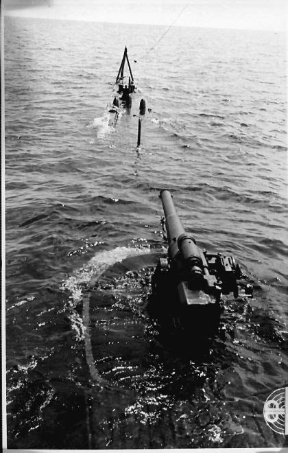 German U Boat Niagara Falls by View From The Lookout On Surfacing Submarine 1943