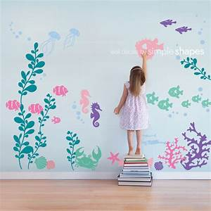 under the sea wall decal collection With best decor mermaid decals for walls