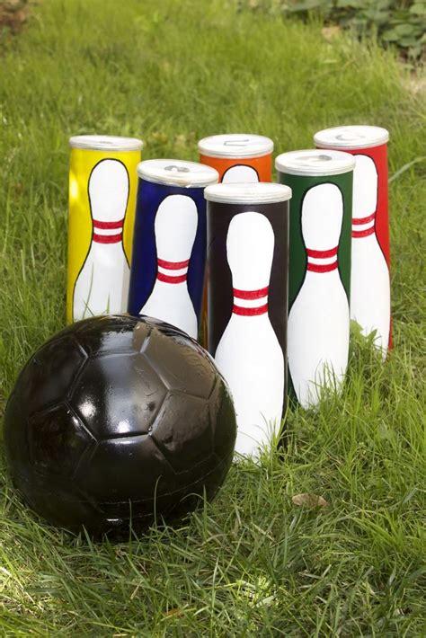bolwing ball painted soccer ball diy  kids