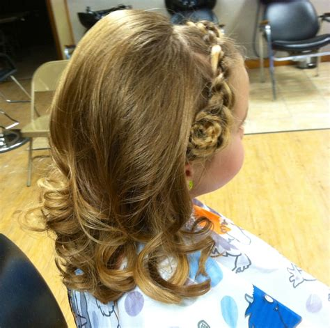 dance recital pictures hair idea   french braid