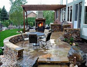 Bbq, Beautiful, Patio, Backyard, Grill, Ideas, Inspirational, Barbecue, Design, With, Small, Walkway