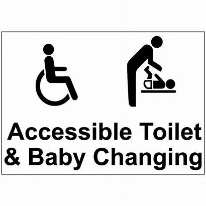 Signs Toilet Changing Accessible Washroom Economy Basket