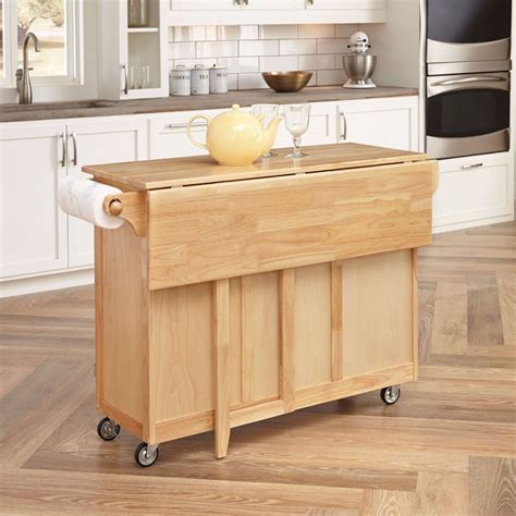 movable kitchen island furniture folding wing wwooden movable kitchen island