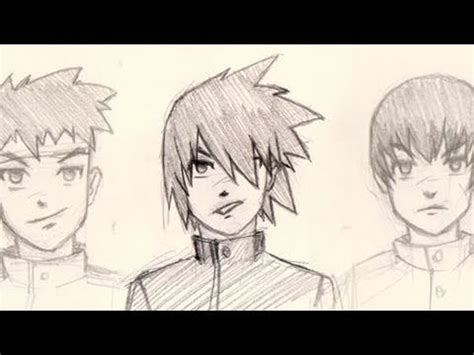 To explore more similar hd image on pngitem. Draw Manga hair 4 different ways for male characters ...