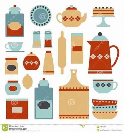 Kitchen Clipart Utensil Items Utensils Retro Clip