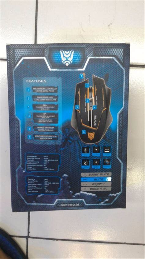 jual mouse gaming rexus xierra x3 best quality di lapak resty resty085
