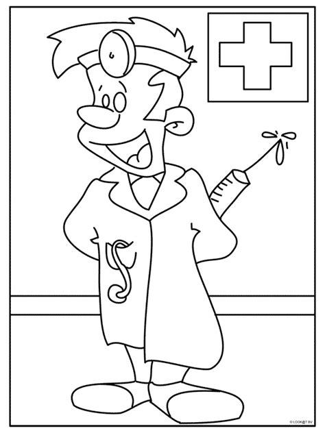 Kleurplaat Dokter Zuster by Kleurplaat Zonder Naam