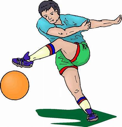 Football Clipart Player Playing Clipartion