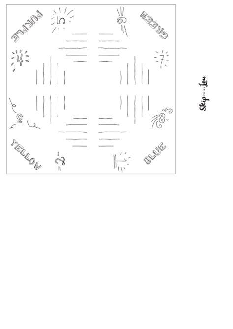 blank wedding fortune teller template printable