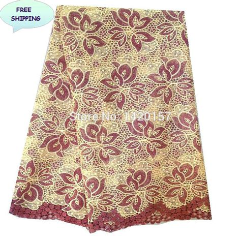 heavy cord lace fabrics mexican fabric high quality polyester metallic materials