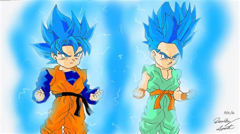 Gohan Super Saiyan 2 Wallpaper Goten And Trunks Super Saiyan Blue By Mlgartwarrior On Deviantart