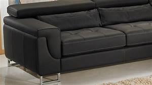 canape d39angle droit cuir noir canape angle pas cher With canapé droit en cuir