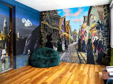 harry potter mural sacredart murals   awesome