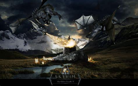 Skyrim Dragon Wallpapers
