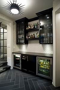 Diy home bar cabinet home bar traditional with stone tile ...