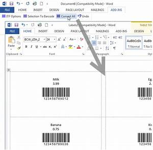 create interleaved 2 of 5 barcode labels with mail merge With create barcode labels