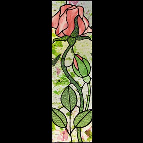 stained glass l patterns tall rose stained glass rose pattern sunlight studio