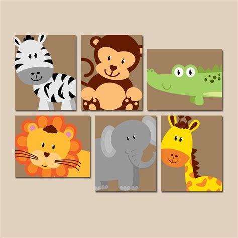 Wandbilder Kinderzimmer Junge by Safari Animal Wall Animal Nursery Artwork Zoo Jungle