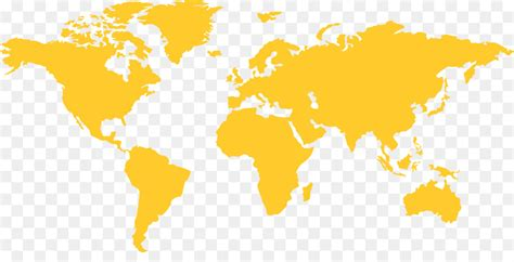 Yellow World Map Background Vector Png