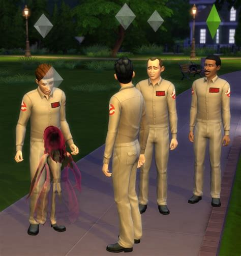 mod  sims ghostbusters  pieces suit  ironleo