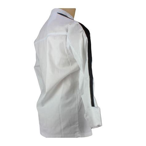 veste de cuisine noir blouse de cuisine blanche parement noir lisavet
