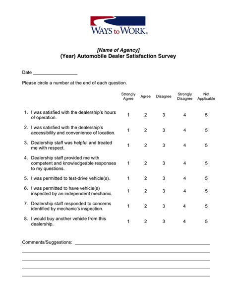 customer satisfaction survey template  word   formats