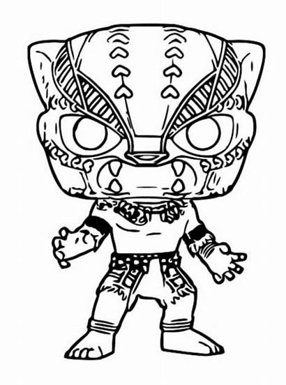 Funko Panther Coloring Pop Pages Marvel Popular