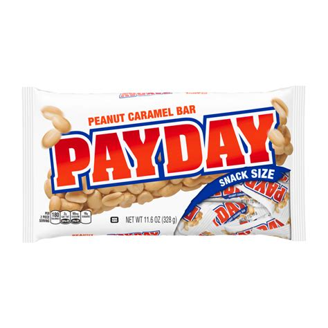 payday snack size bar product nutrition