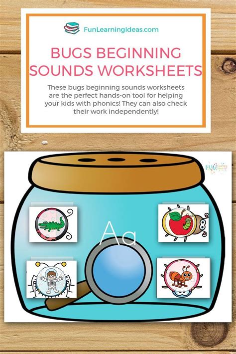 fun hands  bugs beginning sounds worksheets  images