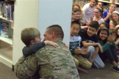 dad home afghanistan surprises year son east rockaway