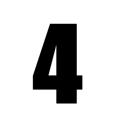 Number 4 Free Png Images Download