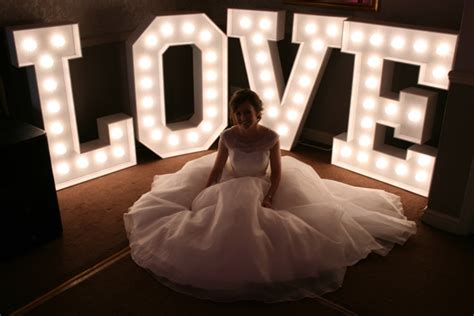 big light up letters wedding chair covers hire pretty chairs in sheffield yorkshire