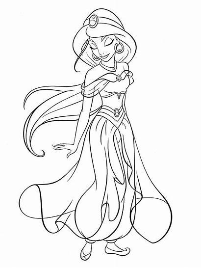 Disney Princess Jasmine Coloring Pages Printable Fans