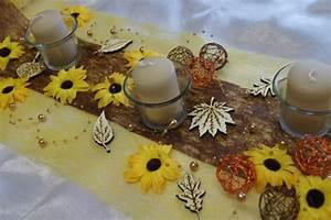 Tischdeko Mit Sonnenblumen : tischdeko herbst gelb sonnenblumen tischdeko herbst ~ Lizthompson.info Haus und Dekorationen