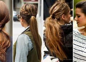 Coiffure Queue De Cheval : coiffure 10 fa ons de porter la queue de cheval ~ Melissatoandfro.com Idées de Décoration