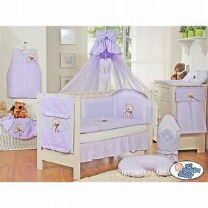 Parure De Lit Enfant : parure de lit b b compl te ours teddy violet chambre b b ~ Teatrodelosmanantiales.com Idées de Décoration