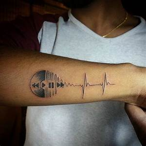 Music tattoo , lifeline tattoo ... Music is my life   www ...