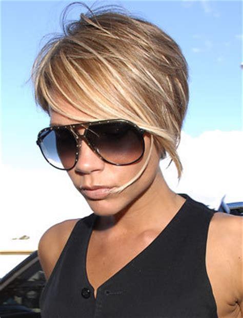 Short brown hair with blonde streaks ~ Make Hairstyles