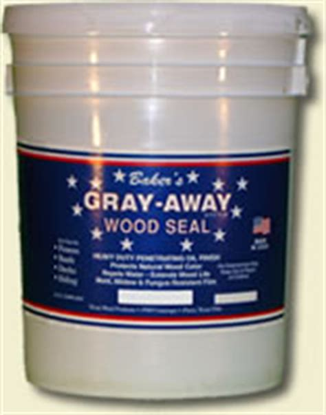 Lasting Deck Stain Sealer by Baker S Gray Away Best Professional Fence And Deck Stain
