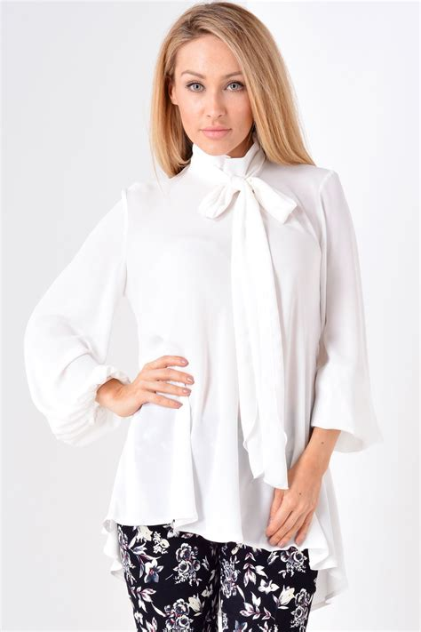 white blouse with bow zack bow blouse in white iclothing