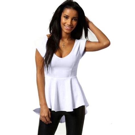 summer blouse jecksion zipper blouse summer v neck tops