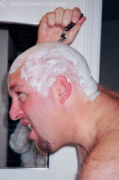 guy dealing hair loss shave head bald jim