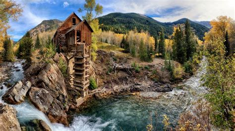 Crystal River Crystal Mill Colorado Usa Forest