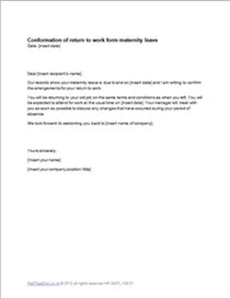 letter applying  maternity leave dental vantage