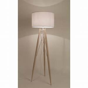 Lampadaire Bois Et Blanc : lampadaire tr pied m tal et bois eiffel ~ Dailycaller-alerts.com Idées de Décoration