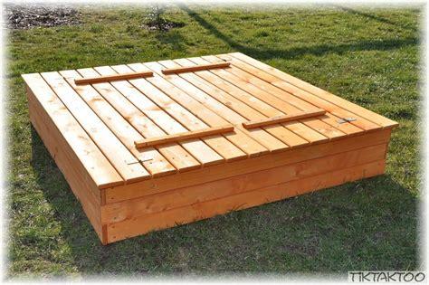 Loggyland Sandkasten M Deckel Holz 140x140cm Sandbox